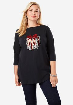 Holiday Print Tunic,