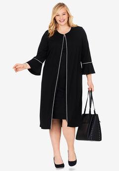 Bell Sleeve Ponte Jacket Dress,
