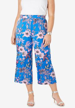 Stretch Knit Cropped Pants,