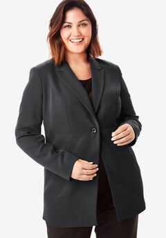 Bi-Stretch Blazer, BLACK
