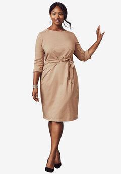 Lurex Fit & Flare Dress, SPARKLING CHAMPAGNE, hi-res