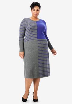Stripe Midi Sweater Dress,