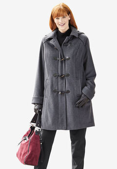 The Tailored Toggle Coat, HEATHER CHARCOAL, hi-res