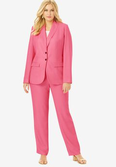 Single Breasted Pant Suit, DAZZLING PINK