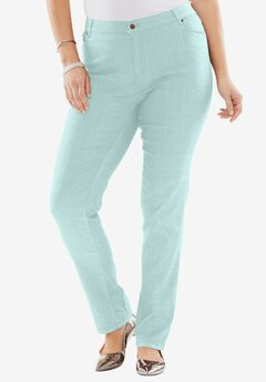 True Fit Bootcut Jeans , COOL MINT