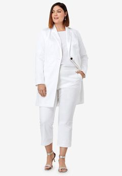 Crop Pantsuit, WHITE