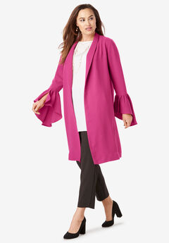 Flounce Duster, BRIGHT BERRY