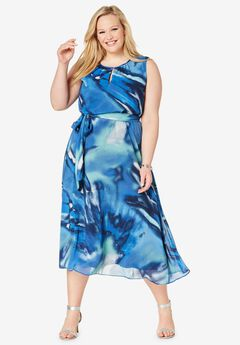 5094e1b07 Belted Georgette Dress. Jessica London