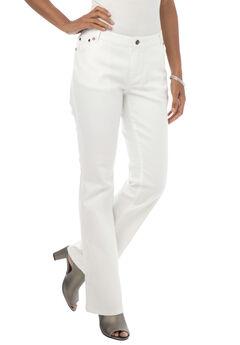 True Fit Bootcut Jeans , WHITE DENIM