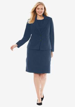Single Breasted Jacket Dress, NAVY, hi-res