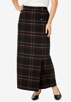 Side-Button Skirt,