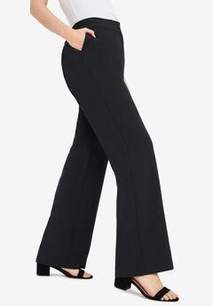 Tummy Control Bi-Stretch Bootcut Pant, BLACK