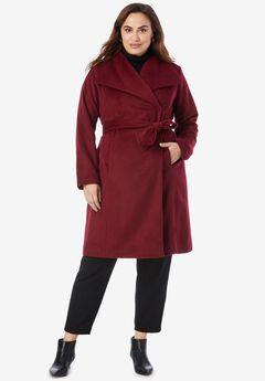 Belted Wool-Blend Coat,