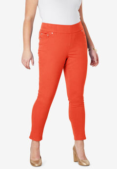 Comfort Waist Skinny Ankle Jean, FLAME RED