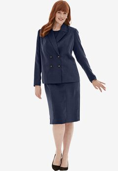 2-Piece Jacket Dress, NAVY, hi-res
