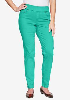 Comfort Waistband Jeans, PRETTY JADE, hi-res