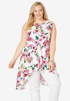 Asymmetrical Linen Tunic,