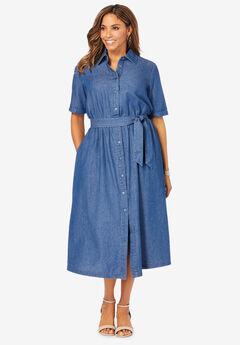 Soft Denim Shirtdress,