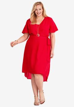 2-Piece Dress, HOT RED