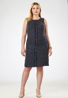 A-Line Tweed Dress,