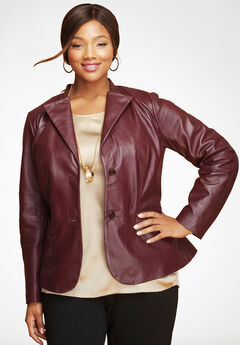3907ae333ad Women s Plus Size Leather and Faux Leather Jackets