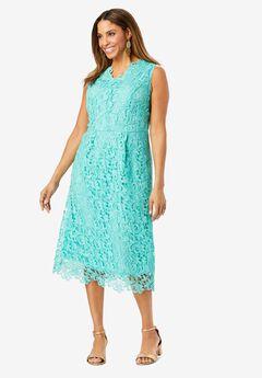 Lace Midi Dress,