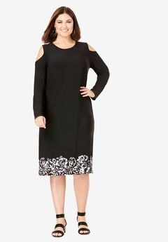 Cold Shoulder Sheath Dress,