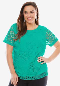 Lace Blouse, PRETTY JADE