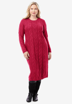 Cable Sweater Dress,