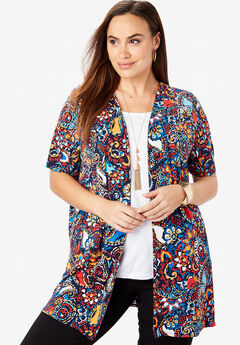 ef231053507 Travel Knit Collarless Topper