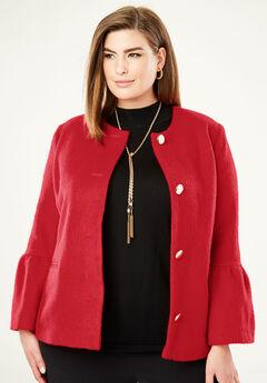 Bell Sleeve Jacket,