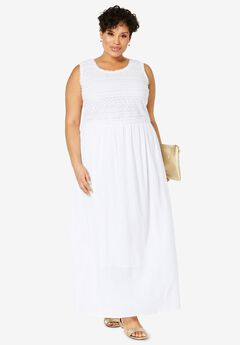 Gauze Maxi Dress, WHITE