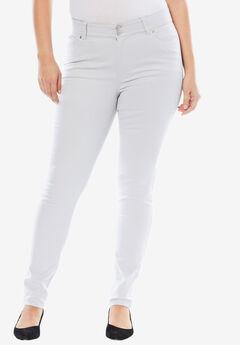 Tummy-Control Skinny Jeans, SOFT GREY