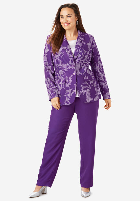 cf7a98698b3432 Single Breasted Pant Suit