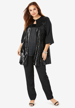Bell Sleeve Sequin Topper,