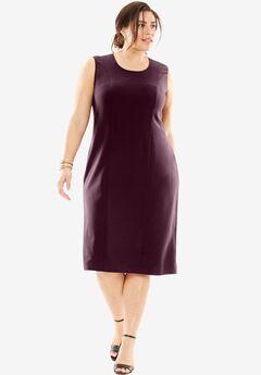 Bi-Stretch Sheath Dress, MIDNIGHT BERRY, hi-res