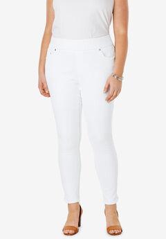 Comfort Waist Skinny Ankle Jean, WHITE