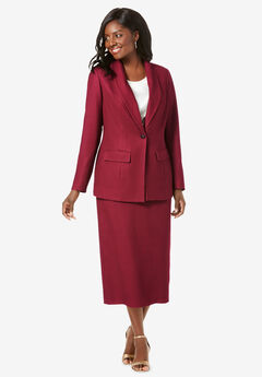 Single-Breasted Skirt Suit,