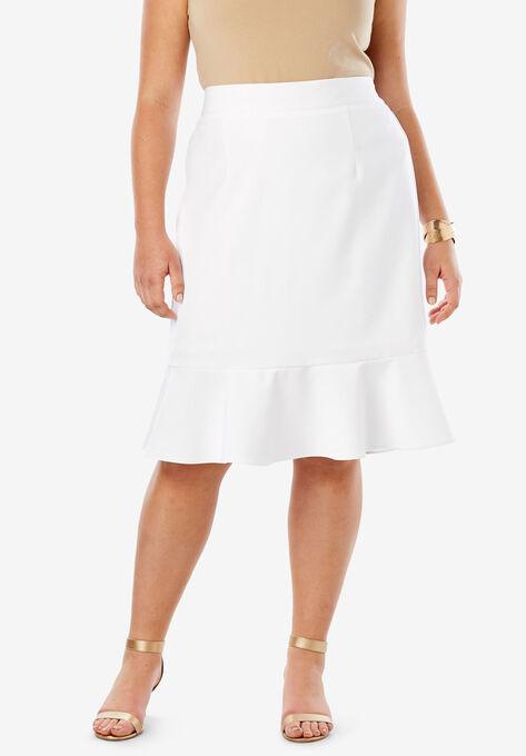 11b685d0671 Flounced Bi-Stretch Skirt