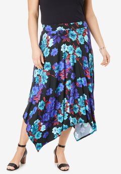 Asymmetrical Midi Skirt,