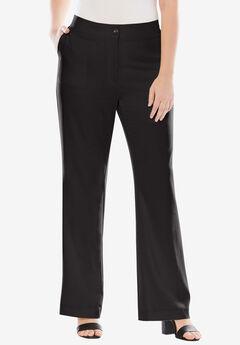 Boot Cut Bi-Stretch Pants, BLACK, hi-res
