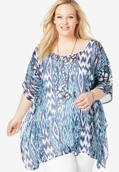 bebd69e21d62de Women's Plus Size Tops and Blouses | Roaman's