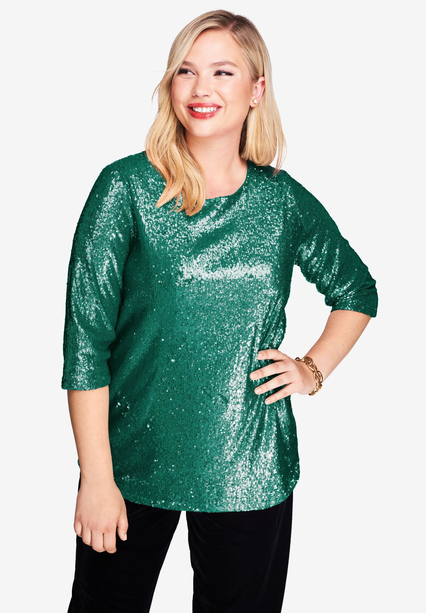 brand new plus  Size 34 sequin tunic