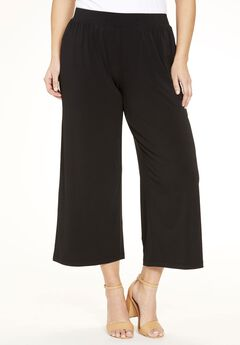 Stretch Knit Cropped Pants,