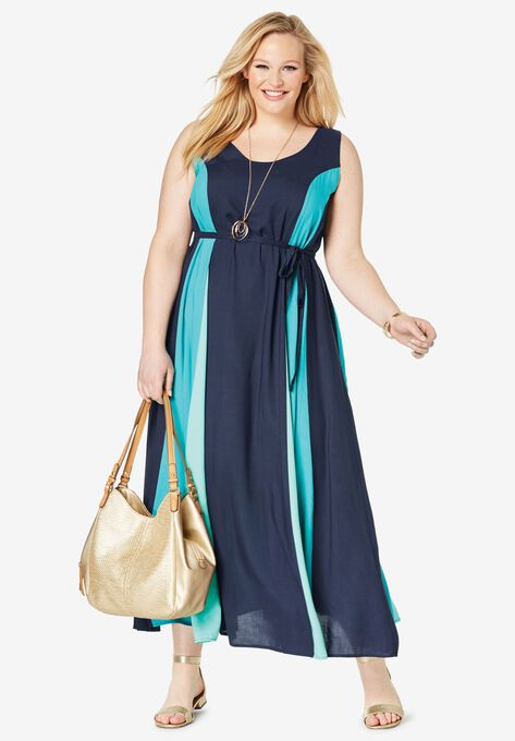 92d3158aa2 Colorblock Maxi Dress