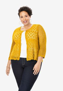 Crochet Sweater, SUNSET YELLOW