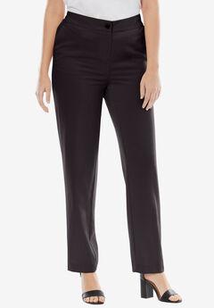 Straight Leg Bi-Stretch Pants, BLACK, hi-res