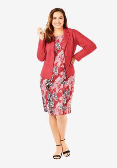 Single Breasted Jacket Dress,
