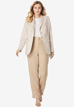 Single-Breasted Pant Suit,