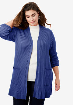Rib Cardigan Sweater,